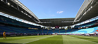 16th May 2020, Red Bull Arena, Leipzig, Germany; Bundesliga football, Leipzig versus FC Freiburg;  View of the empty spectator stands at the kick-off of the match