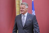 Laurent Lessard is sworn in as Ministre de líAgriculture, des PÍcheries et de líAlimentation (agriculture Minister) of the new Liberal cabinet at the National Assembly in Quebec city October 11, 2017.<br /> <br /> PHOTO :  Francis Vachon - Agence Quebec Presse