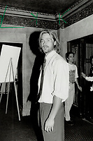 1992 FILE PHOTO - ARCHIVES -<br /> <br /> Brad Pitt co-star in The River Runs Through it, the Robert Redford-directed and produced movie that was screened at the Elgin theatre Sunday night.<br /> <br /> 1992<br /> <br /> PHOTO :  Erin Comb - Toronto Star Archives - AQP