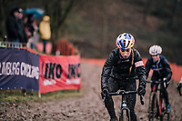 Pauline Ferrand-Prevot (FRA/Canyon-SRAM) checking out the course<br /> <br /> UCI CX Worlds 2018<br /> Valkenburg - The Netherlands