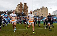 Photo: Richard Lane/Richard Lane Photography. Bath  Rugby v Wasps.  European Rugby Champions Cup. 12/10/2018. Wasps' Josh Bassett and Michele Campagnaro.