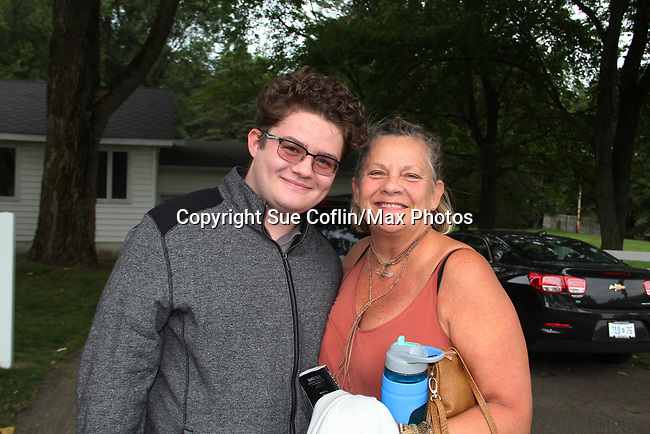 """Guiding Light's Kim Zimmer stars in """"Lion in the Winter"""" as Queen Eleanor July 25 through August 6 and poses with Kameron Maxwell - this being the Dress Rehearsal at The Barn Theatre, Augusta, Michigan. (Photo by Sue Coflin/Max Photos)"""