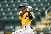 FCL Pirates Gold Norkis Marcos (13) bats during a game against the FCL Rays on July 26, 2021 at LECOM Park in Bradenton, Florida. (Mike Janes/Four Seam Images)