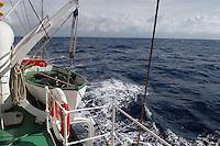 - boat in navigation with stormy sea....- battello in navigazione con mare agitato