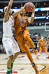guard Brianna Taylor (20) drives past guard Alexis Prince (12) during Big 12 women's basketball championship final, Sunday, March 08, 2015 in Dallas, Tex. (Dan Wozniak/TFV Media via AP Images)
