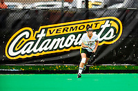 1 May 2010: University of Vermont Catamount midfielder Devin Markle, a Senior from Bethany, CT, in action against the University of New Hampshire Wildcats at Moulton Winder Field in Burlington, Vermont. The Lady Catamounts fell to the visiting Wildcats 18-10 in the last game of the 2010 regular season. Mandatory Photo Credit: Ed Wolfstein Photo