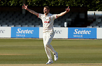 Jamie Porter of Essex appeals for a wicket during Essex CCC vs Durham CCC, LV Insurance County Championship Group 1 Cricket at The Cloudfm County Ground on 17th April 2021