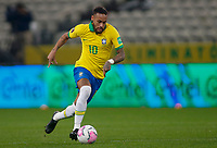 9th October 2020; Arena Corinthians, Sao Paulo, Sao Paulo, Brazil; FIFA World Cup Football Qatar 2022 qualifiers; Brazil versus Bolivia; Neymar of Brazil