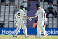 Ross Taylor congratulates Kane Williamson, New Zealand on his half century during India vs New Zealand, ICC World Test Championship Final Cricket at The Hampshire Bowl on 23rd June 2021