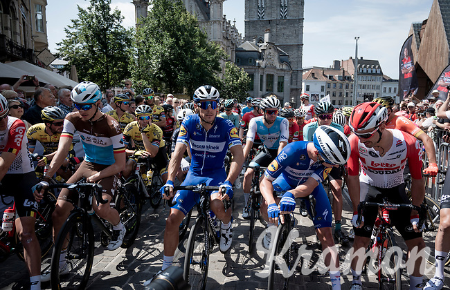 at the race start in Gent<br /> <br /> Belgian National Road Championships 2019 - Gent<br /> <br /> ©kramon