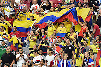 Glendale, AZ - Saturday June 25, 2016: Fans during a Copa America Centenario third place match match between United States (USA) and Colombia (COL) at University of Phoenix Stadium.