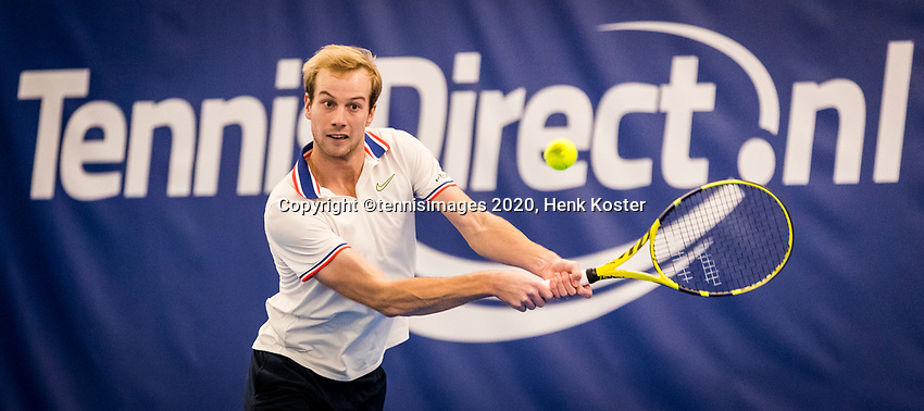 Amstelveen, Netherlands, 16  December, 2020, National Tennis Center, NTC, NK Indoor, National  Indoor Tennis Championships, : Botic van de Zandschulp (NED) <br /> Photo: Henk Koster/tennisimages.com