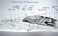 London: Thames Center and Thameside Projects. Team: Ahrends Burton & Koralek; Richard Rogers, John Hawkes; Ove Arup & Partners & Monk, Dunstone, Brian Richards. AD 56-4, 1986.