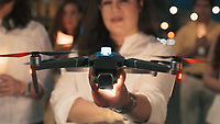 MAY 2021 DRONES SWARMS CREATE GIANT 3D IMAGES IN SKY FOR AMNESTY 60TH ANNIVERSARY FILM