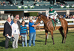 LEXINGTON, KY - OCT 23: Elektrum (IRE), #2, ridden by Drayden Van Dyke and trained by John Sadler wins the 25th running of the Grade 3 Rood & Riddle Dowager Stakes at Keeneland Racetrack in Lexington, KY. (Photo by Samantha Bussanich/Eclipse Sportswire/Getty Images)