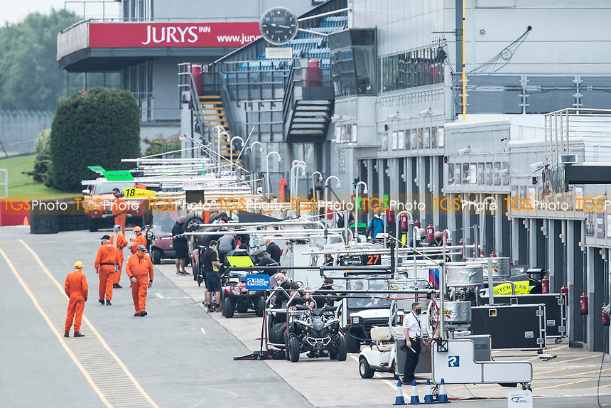 A general shot through the pit lane during the British GT & F3 Championship on 10th July 2021