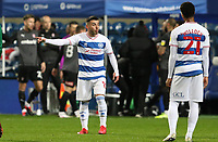 Ilias Chair of Queens Park Rangers gives instructions to Chris Willock of Queens Park Rangers during Queens Park Rangers vs Rotherham United, Sky Bet EFL Championship Football at The Kiyan Prince Foundation Stadium on 24th November 2020