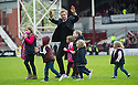 Hearts' manager Gary Locke during a lap of honour at the end of the game.