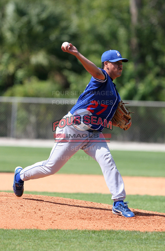 Los Angeles Dodgers minor leaguer Jesus Rodriguez during Spring Training at Dodgertown on March 23, 2007 in Vero Beach, Florida.  (Mike Janes/Four Seam Images)