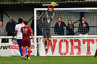 Nathan McDonald of Enfield Town catches a cross during Enfield Town vs Worthing, Pitching In Isthmian League Premier Division Football at the Queen Elizabeth II Stadium on 16th October 2021