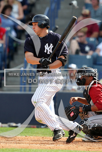 New York Yankees Jordan Parraz #78 during a Spring Training game vs the Houston Astros at George M. Steinbrenner Field in Tampa, Florida;  March 2, 2011.  New York defeated Houston 6-5.  Photo By Mike Janes/Four Seam Images