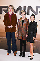 "Mackenzie Davis, Linda Hamilton and Natalia Reyes<br /> at the ""Terminator: Dark Fate"" photocall, London.<br /> <br /> ©Ash Knotek  D3529 17/10/2019"
