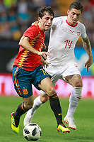 Spain's Alvaro Odriozola (l) and Switzerland's Steven Zuber during international friendly match. June 3,2018.(ALTERPHOTOS/Acero) /NortePhoto.com