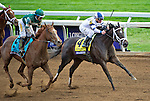 October 30, 2015 : Stopchargingmaria, ridden by Javier Castellano, outdoes Stellar Wind, ridden by Victor Espinoza, to win the Breeders' Cup Distaff at Keeneland Race Course in Lexington, Kentucky.   John Voorhees/ESW/CSM