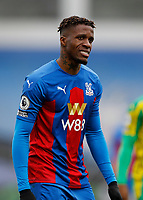 13th March 2021; Selhurst Park, London, England; English Premier League Football, Crystal Palace versus West Bromwich Albion;  Wilfried Zaha of Crystal Palace