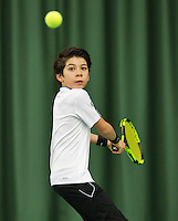 Rotterdam, The Netherlands, March 13, 2016,  TV Victoria, NOJK 12/16 years, Alfredo Vogelaar (NED)<br /> Photo: Tennisimages/Henk Koster