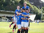 17.07.2021 Rangers B v Bo'ness Utd: Rangers celebrate Tony Weston's goal for the B team