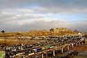 Iraq 2007.Kirkuk: view on the citadel, the bridge and the bazar  Irak 2007 Vue sur la citadelle de Kirkouk, le pont et le bazar