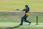 Farhaan Sayanvala of South Africa hits a shot during Day 1 of Hong Kong Cricket World Sixes 2017 Group A match between Hong Kong vs South Africa at Kowloon Cricket Club on 28 October 2017, in Hong Kong, China. Photo by Vivek Prakash / Power Sport Images