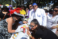 BARRANQUIILLA -COLOMBIA-18-FEBRERO-2015. Con la muerte de Joselito Carnaval termina el Carnaval de Barranquilla, por eso desde los reyes infantiles, la reina y todos los barranquilleros hicieron una despedida para cerrar las festividades carnavales del presente a–o. /   With the death of Joselito Carnaval  ending Carnaval de Barranquilla , so from infant king, queen and all barranquilleros made a farewell to close the carnival festivities this year.Photo:VizzoImage / Alfonso Cervantes / Stringer