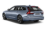 Car pictures of rear three quarter view of 2021 Volvo V90-Recharge R-Design 5 Door Wagon Angular Rear