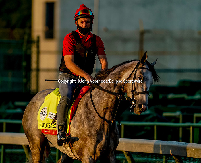 August 30, 2020: Enforceable jogs as horses prepare for the 2020 Kentucky Derby and Kentucky Oaks at Churchill Downs in Louisville, Kentucky. The race is being run without fans due to the coronavirus pandemic that has gripped the world and nation for much of the year. John Voorhees/Eclipse Sportswire/CSM