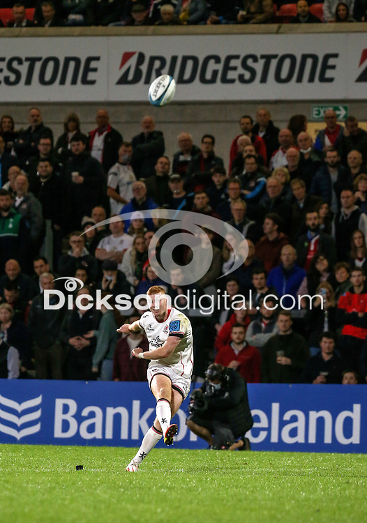 Friday 24th September 2021<br /> <br /> Nathan Doak converts during the URC Round 1 clash between Ulster Rugby and Glasgow Warriors at Kingspan Stadium, Ravenhill Park, Belfast, Northern Ireland. Photo by John Dickson/Dicksondigital