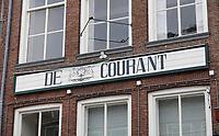 Nederland  Zutphen -  2020.   Gevel van huis met de tekst De Courant.     Foto : ANP/ HH / Berlinda van Dam