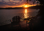 Sunset at Moosehead Lake, Boulton Cove and Burnt Jacket Point.