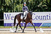 FRA-Barbara Sayous rides Opposition Filmstar during the Dressage for the CCI-L 4*U25. Interim-2nd. 2021 GBR-Bicton International Horse Trials. Devon. Great Britain. Thursday 10 June. Copyright Photo: Libby Law Photography