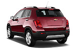 Rear three quarter view of a 2013 Chevrolet TRAX LT+ 5 Door Suv 2WD