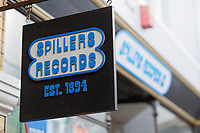 "Pictured: Spillers Records. Friday 13 September 2019<br /> Re: American Band Pixies have signed copies of their latest album ""Beneath The Eyrie"" at Spillers Records, the oldest record shop in the world, in Morgan Arcade, Cardiff, Wales, UK."