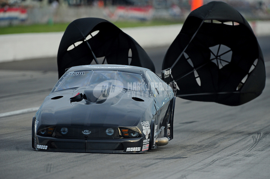 Sept. 4, 2011; Claremont, IN, USA: NHRA pro mod driver Eric Dillard during qualifying for the US Nationals at Lucas Oil Raceway. Mandatory Credit: Mark J. Rebilas-
