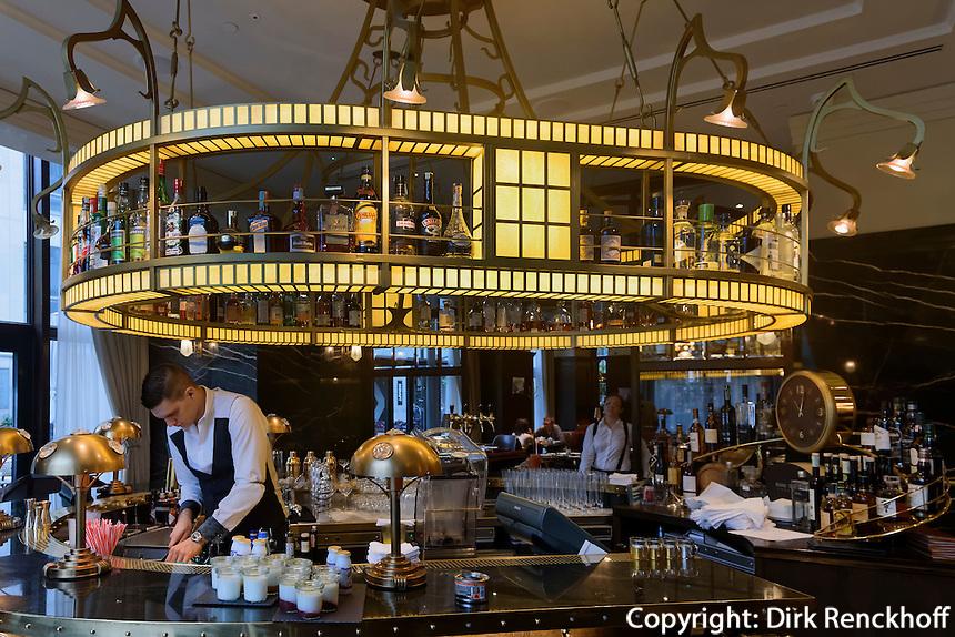Bar im Hotel Palais Gresham am Széchenyi tér 5-6, Budapest, Ungarn