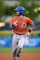 Durham Bulls second baseman Nick Franklin (2) running the bases during a game against the Buffalo Bisons on June 13, 2016 at Coca-Cola Field in Buffalo, New York.  Durham defeated Buffalo 5-0.  (Mike Janes/Four Seam Images)