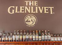 Various bottles of whiskey of Glenlivet whiskey distillery near Ballindalloch, Scotland on 2015/06/08. Foto EXPA/ JFK/Insidefoto