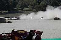 13th September 2020; Mugello race track, Scarperia e San Piero, Tuscany, Italy ; Formula 1 Grand Prix of Tuscany, Race Day;  8 Romain Grosjean FRA, Haas F1 Team, 33 Max Verstappen NLD, Aston Martin Red Bull Racing