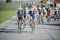 Michal Kwiatkowski (POL/SKY) & Tom Boonen (BEL/Etixx-QuickStep) leading the race<br /> <br /> E3 - Harelbeke 2016