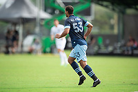 LAKE BUENA VISTA, FL - JULY 23: Ali Adnan #53 of Vancouver Whitecaps FC running towards the ball during a game between Chicago Fire and Vancouver Whitecaps at Wide World of Sports on July 23, 2020 in Lake Buena Vista, Florida.
