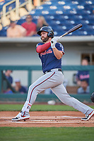 Matt Davidson (24) of the Nashville Sounds bats against the Reno Aces at Greater Nevada Field on June 5, 2019 in Reno, Nevada. The Aces defeated the Sounds 3-2. (Stephen Smith/Four Seam Images)